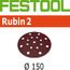 Festool StickFix Rubin-2 6 Inch Discs for RO 150 and ETS 150 Sanders